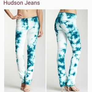 Hudson Tilda mid rise straight tie dye jeans 29